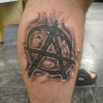 attarctive-anarchy-symbol-tattoo-on-leg