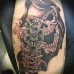 skull-gun-tattoo-design-4